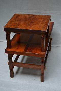 Handcrafted Studio End Table with Mixed Wood Inlay and Pegs circa 1955 - 570808