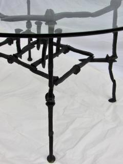 Handcrafted Welded Railroad Spike Breakfast Game Table Circa 1970   570586