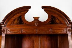 Handmade 20th Century Mahogany Wood Two Parts Breakfront - 1038098