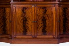 Handmade 20th Century Mahogany Wood Two Parts Breakfront - 1038103