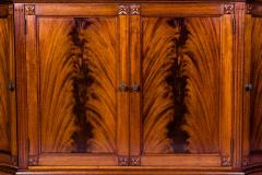 Handmade 20th Century Mahogany Wood Two Parts Breakfront - 1038104