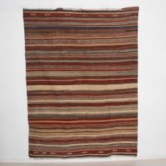 Handmade Woven Wool Tapestry Rug Rich Bohemian Sea of Color 1970s - 1680168