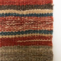 Handmade Woven Wool Tapestry Rug Rich Bohemian Sea of Color 1970s - 1680172