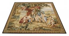 Handwoven Vintage Aubusson Tapestry Wall Hanging Needlepoint - 1832021