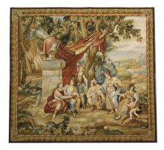 Handwoven Vintage Aubusson Tapestry Wall Hanging Needlepoint - 1832030