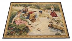 Handwoven Vintage Tapestry Wall Hanging Needlepoint Rug - 1832029