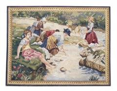 Handwoven Vintage Tapestry Wall Hanging Needlepoint Rug - 1832036