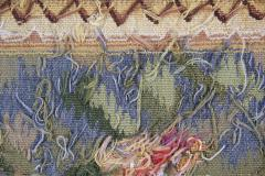 Handwoven Vintage Tapestry Wall Hanging Needlepoint Rug - 1832064