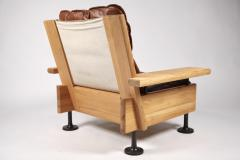 Hannu Jyr s Hannu Jyr s Pair of Unique Easy Armchairs in Oregon Pine Leather 1970s - 1604975