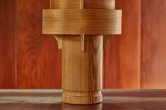 Hans Agne Jakobsson 1960s Hans Agne Jakobsson Model 243 Wood Table Lamp for AB Ellysett - 1148311