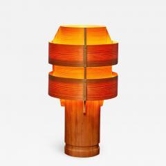 Hans Agne Jakobsson 1960s Hans Agne Jakobsson Model 243 Wood Table Lamp for AB Ellysett - 1148441