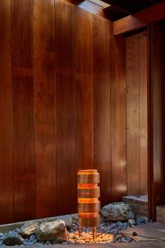Hans Agne Jakobsson 1960s Hans Agne Jakobsson Wood Tripod Floor Lamp for AB Ellysett - 1167536