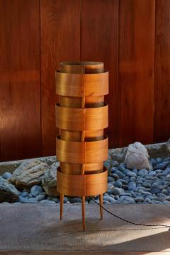 Hans Agne Jakobsson 1960s Hans Agne Jakobsson Wood Tripod Floor Lamp for AB Ellysett - 1167537