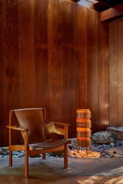 Hans Agne Jakobsson 1960s Hans Agne Jakobsson Wood Tripod Floor Lamp for AB Ellysett - 1167539