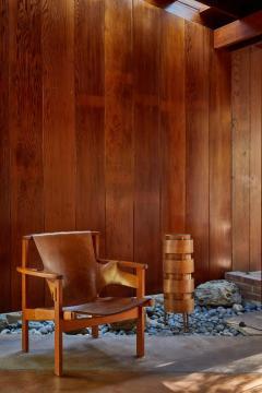 Hans Agne Jakobsson 1960s Hans Agne Jakobsson Wood Tripod Floor Lamp for AB Ellysett - 1167540