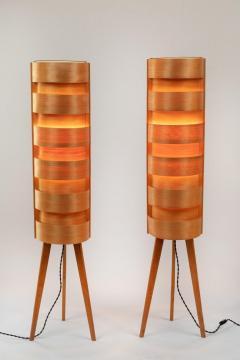 Hans Agne Jakobsson 1960s Hans Agne Jakobsson Wood Tripod Floor Lamps for AB Ellysett - 1189843