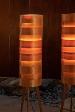 Hans Agne Jakobsson 1960s Hans Agne Jakobsson Wood Tripod Floor Lamps for AB Ellysett - 1189846