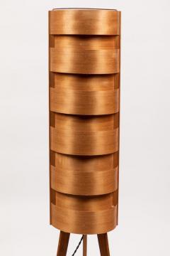 Hans Agne Jakobsson 1960s Hans Agne Jakobsson Wood Tripod Floor Lamps for AB Ellysett - 1189847