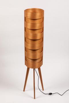 Hans Agne Jakobsson 1960s Hans Agne Jakobsson Wood Tripod Floor Lamps for AB Ellysett - 1189849