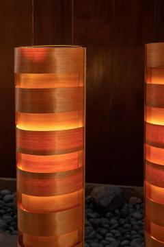 Hans Agne Jakobsson 1960s Hans Agne Jakobsson Wood Tripod Floor Lamps for AB Ellysett - 1189850