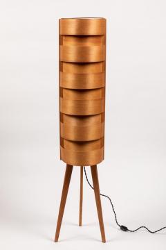 Hans Agne Jakobsson 1960s Hans Agne Jakobsson Wood Tripod Floor Lamps for AB Ellysett - 1189853