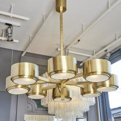 Hans Agne Jakobsson 493 8 Chandelier by Hans Agne Jakobsson in Brass and Glass - 1174429