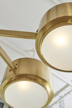 Hans Agne Jakobsson 493 8 Chandelier by Hans Agne Jakobsson in Brass and Glass - 1174430