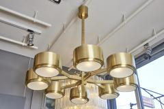 Hans Agne Jakobsson 493 8 Chandelier by Hans Agne Jakobsson in Brass and Glass - 1174431