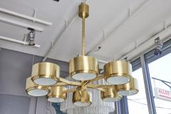Hans Agne Jakobsson 493 8 Chandelier by Hans Agne Jakobsson in Brass and Glass - 1174432