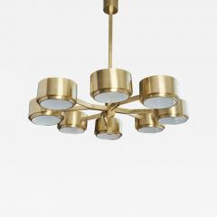 Hans Agne Jakobsson 493 8 Chandelier by Hans Agne Jakobsson in Brass and Glass - 1175178