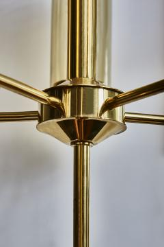 Hans Agne Jakobsson Brass and Glass Chandelier T434 5 by Hans Agne Jakobsson - 1173831