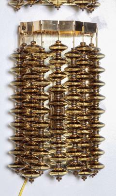 Hans Agne Jakobsson Hans Agne Jakobsson Amber Glass Strand Sconces - 880725