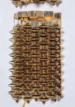 Hans Agne Jakobsson Hans Agne Jakobsson Amber Glass Strand Sconces - 880726