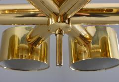 Hans Agne Jakobsson Midcentury Swedish Chandelier in Brass by Hans Agne Jakobsson - 1015120