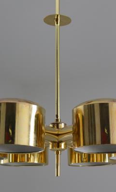 Hans Agne Jakobsson Midcentury Swedish Chandelier in Brass by Hans Agne Jakobsson - 1015126