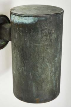 Hans Agne Jakobsson Pair of 1950s Hans Agne Jakobsson Cylindrical Outdoor Sconces - 1564344