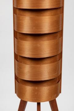 Hans Agne Jakobsson Pair of 1960s Hans Agne Jakobsson Wood Tripod Floor Lamps for AB Ellysett - 1181373