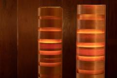 Hans Agne Jakobsson Pair of 1960s Hans Agne Jakobsson Wood Tripod Floor Lamps for AB Ellysett - 1181374