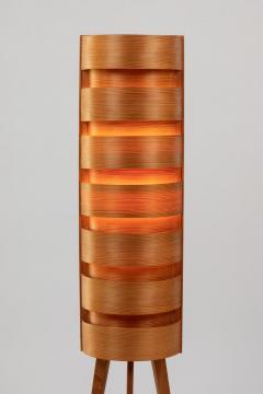 Hans Agne Jakobsson Pair of 1960s Hans Agne Jakobsson Wood Tripod Floor Lamps for AB Ellysett - 1181377