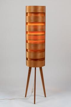 Hans Agne Jakobsson Pair of 1960s Hans Agne Jakobsson Wood Tripod Floor Lamps for AB Ellysett - 1181378