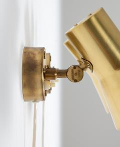 Hans Agne Jakobsson Pair of Swedish Brass Wall Lamps Model V 239 by Hans Agne Jakobsson - 1290859