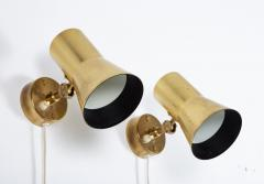 Hans Agne Jakobsson Pair of Swedish Brass Wall Lamps Model V 239 by Hans Agne Jakobsson - 1290862