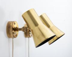 Hans Agne Jakobsson Pair of Swedish Brass Wall Lamps Model V 239 by Hans Agne Jakobsson - 1290865