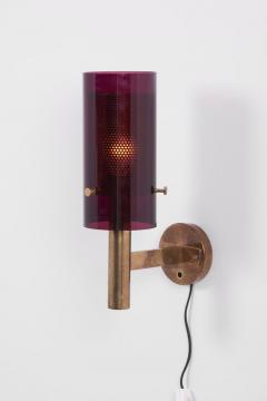 Hans Agne Jakobsson Pair of Wall Lamps V 147 by Hans Agne Jakobsson for AB Markaryd Sweden 1960s - 1238453