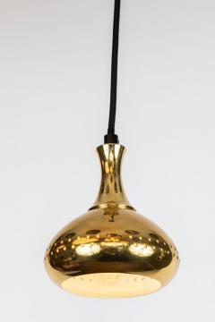 Hans Agne Jakobsson Set of 3 1950s Hans Agne Jakobsson Perforated Brass Pendants for Markaryd - 1079901