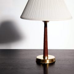 Hans Bergstr m Hans Bergstr m Leather Wrapped Table Lamp for Atelje Lyktan - 1527399