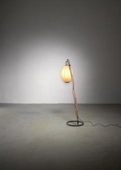 Hans Bergstr m Hans Bergstrom curved bamboo floor lamp - 2020184