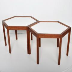 Hans C Andersen Mid Century Danish Modern Pair of Hexagon Side Tables Hans C Andersen - 1181802