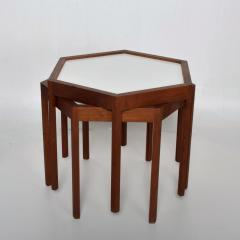 Hans C Andersen Mid Century Danish Modern Pair of Hexagon Side Tables Hans C Andersen - 1181803
