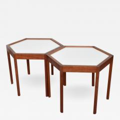 Hans C Andersen Mid Century Danish Modern Pair of Hexagon Side Tables Hans C Andersen - 1182383